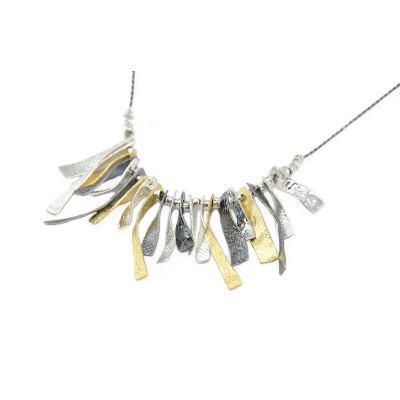 Silver and Gold (plated) Necklace Made in Israel