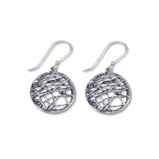 Silver crisscross Earrings Made in Israel