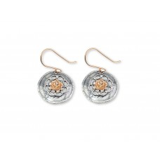 Sterling Silver Flower Style Earrings Made in Israel