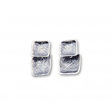 Sterling Silver Square Style Earrings Made in Israel