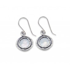 Sterling Silver Earrings With Fresh Water Pearls made in Israel