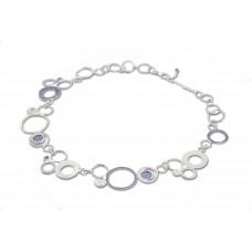 Silver Circles/Rings Necklace Made in Israel