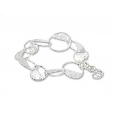 Silver Bracelet made of interlocking circles - Made in Israel
