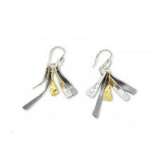 Silver and Goldfield Earrings Made in Israel